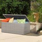152 Gal Storage Deck Box All-weather Resin Wicker  Rust Free Aluminium Frame