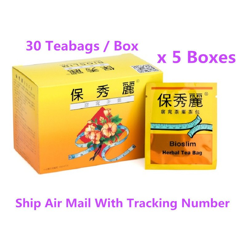 Bioslim Tea Bio Slim Mild Laxative Herbal Tea Bags 30 Teabags x 5