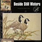BESIDE STILL WATERS (2 Canadian geese) TO CROSS STITCH