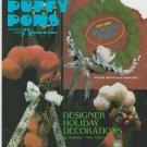 puffy poms ** designer holiday decorations ** pattern leaflet