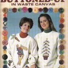 BUTTONED UP ** CROSS STITCH  IN WASTE CANVAS