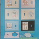 turn me on (for wall switch covers) ** cross stitch booklet