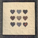 mini appliqued hearts to make and enjoy