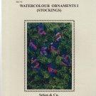 WATERCOLOUR ORNAMENTS 1 * STOCKINGS ** cross stitch