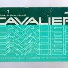 1988 Chevrolet Owner's Manual (Cavalier)
