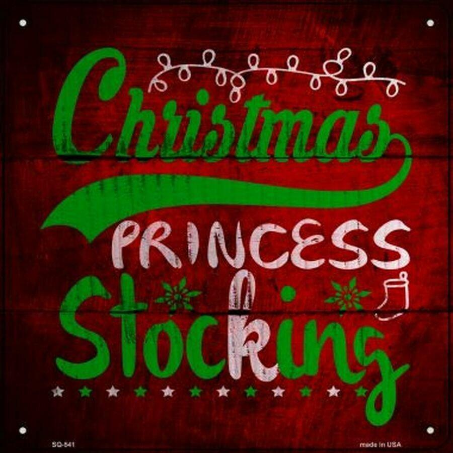 Christmas Princess Novelty Metal Square Sign