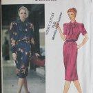 Vogue 7740 Dress UNCUT Pattern Sz 12 Bust 34 Vintage 1980s