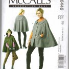 McCall's 6446 Misses' Capes UNCUT Sewing Pattern Size 12 - 20 Large XL