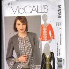 McCall's 5765 Misses' Cardigan Tops UNCUT Sewing Pattern Size XSm Sm Med