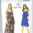 Butterick 5755 Strappy Summer Dress with Overlay UNCUT Sewing Pattern Size 16 - 22 B5755 Suzi Chin