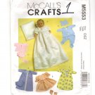 """McCall's M5553 Baby Doll Clothes Sewing Pattern for 11-13"""" and 14-16"""" Dolls"""