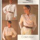 Vogue 1792 Calvin Klein 1980s Blouse UNCUT Pattern Sz 10 Bust 32.5 American Designer