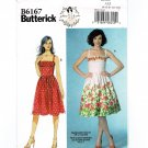 Butterick 6167 Strappy Summer Dress UNCUT Sewing Pattern Size 4 - 12 B6167