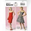 Butterick 6019 Retro Boned Bodice Summer Dress UNCUT Sewing Pattern Size 4 - 12 B6019