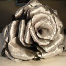 Giant Crepe Paper Silver Rose