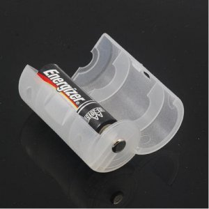 1 pc AA to C Battery Cell Converter Adaptor Holder