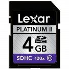 Lexar SDHC 4 GB Class 6 Flash Memory Card 100x Jewel Case Envelope Bulk LSD4GBBE100 SD