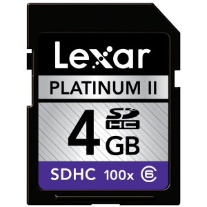 Lexar SDHC 4 GB Class 6 Flash Memory Card 100x Jewel Case Envelope Bulk LSD4GBBE100 SD
