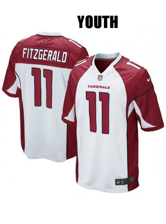 YOUTH ARIZONA CARDINALS  11 LARRY FITZGERALD WHITE JERSEY 479a2ff9e