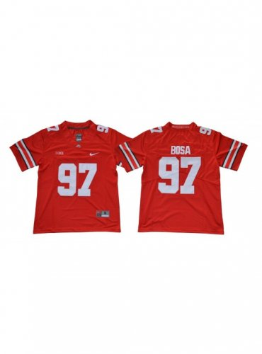 sale retailer 97bf2 f0822 MEN'S OHIO STATE BUCKEYES #97 JOEY BOSA RED JERSEY