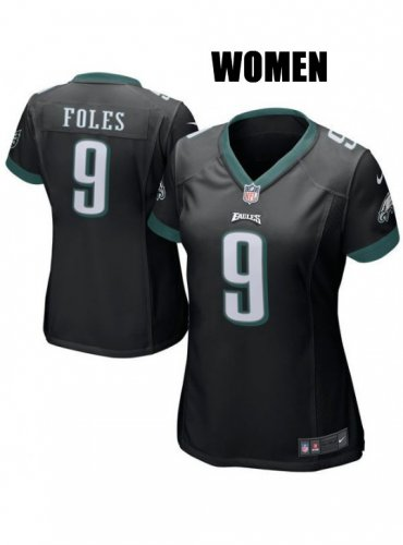 on sale 61b47 ee2a8 Women's Philadelphia Eagles #9 Nick Foles Black Jersey