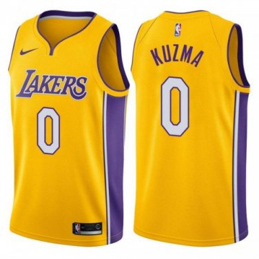 the latest b1fcc 23bde MEN'S LOS ANGELES LAKERS #0 KYLE KUZMA GOLD SWINGMAN JERSEY