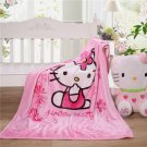 Hello Kitty Cat Pink Mini  Mickey Nursery Baby Girl Infant Cover Bed Blanket