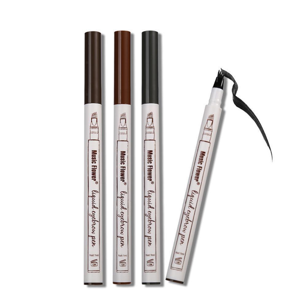 3 Colors Waterproof Smudge-proof Makeup Fine Sketch Liquid Eyebrow Pen Tattoo