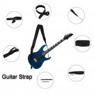 GS-06 Guitar Strap Thickened Widened Adjustable Decompression Leather Pearl Cotton Shoulder Strap fo