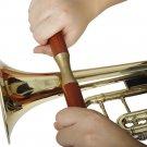W5 Redwood Handle Pressure Roller Pipe Saxophone Trumpet Trombone Sheet Metal Repair Tool
