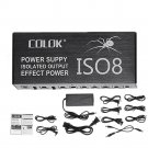 COLOK ISO8 Compact Size Guitar Effects Power Supply Adapter Noise Reduction Isolated DC Outputs for