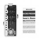 MOOER Brown Sound 3 Micro Preamps of Guitar Effects Pedal with Dual Channel Preamp 3 Band EQ