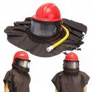 Abrasive Shot Blast Cleaning Helmet Sand Blasting Protective Cloth Tools Pipe Kit