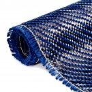 3K 200gsm Blue Carbon Fiber Cloth Setting Fabric Industrial Material Carbon Fiber Board 36x12 Inch