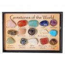 Rock Collection Mix Gems Crystals Natural Teaching Mineral Ore Specimens Decoration Box