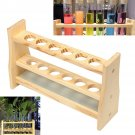 6 Holes Test Tube Rack Testing Tubes Clip Holder Stand Dropper Wood Lab Supplies