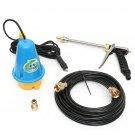 80W 12V Portable High Pressure Washing Machine Electric Washer Clean Gun Submersible Pump