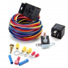 Electric Cooling Fan Wire Harness Kit Relay & Circuit Breaker Wiring Harness SBC SBF 302 350 454