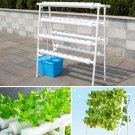 4 Layer 72 Holes Vertical Hydroponic Piping Site Grow Kit DWC Deep Water Culture Vegetable Planting