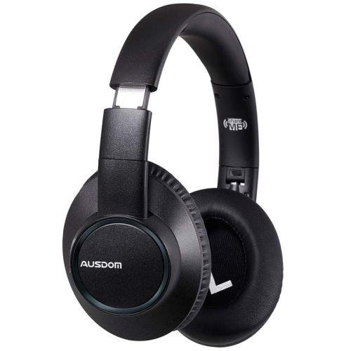 AUSDOM H8 Bluetooth Wireless Headphones with Mic for PC Gaming