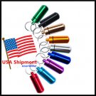 Waterproof Aluminum Pill Box Case Bottle Drug Holder Keychain Container (2 Piece Set)