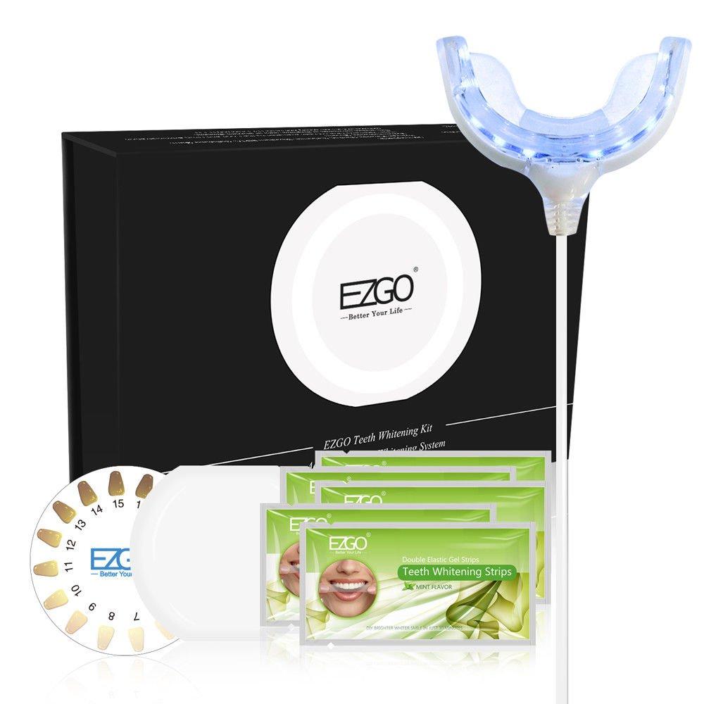 GCM Teeth Whitening Strips & USB Accelerator White Light Tooth Whitener