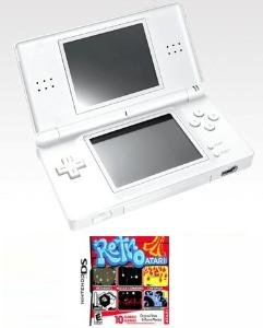 Nintendo DS Lite (Polar White) Bundle with 10 Games