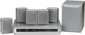 AUDIOVOX DV1201 5.1-CHANNEL, 300-WATT HOME THEATER SYSTEM WITH DVD PLAYER