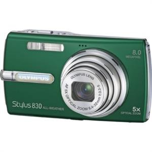 """Olympus 8.0MP All-Weather Camera with 5x Optical Zoom and 2.5"""" HyperCrystal LCD-ALL-WTHR GRN"""