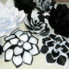 Lot 15 Large Paper flower wall decor, flore de papel, wedding paper flower backdrop, baby shower