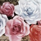 1Pc 6-19inches  Large Paper Rose Flower Backdrop Wedding Party Wall Garden Decor