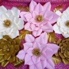 6 pcs Paper Flower Backdrop, wedding paper flowers wall, baby shower, nursery