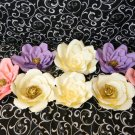 8 pcs Paper Flower Backdrop, Unicorn paper flowers, baby shower, wedding decor