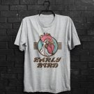 Early Bird Retro Rooster Slogan Catches The Worm Adults T-Shirt All Sizes Cols